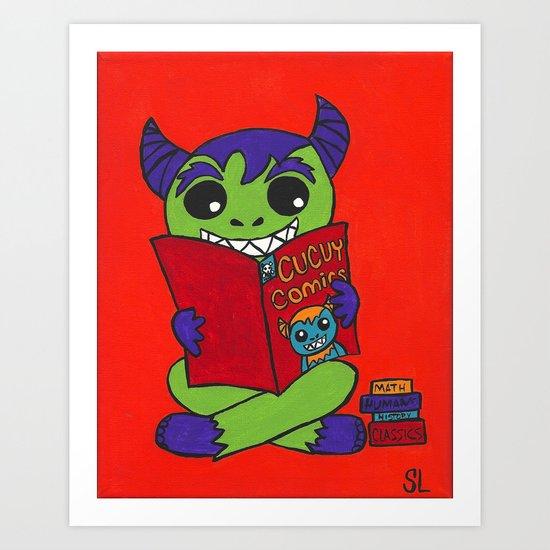 Cucuy Love Comics Art Print