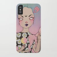 flora iPhone & iPod Cases featuring Flora by lOll3