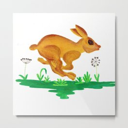 See Rabbit Run Metal Print