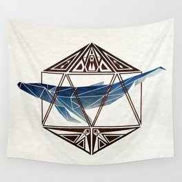 whale in the icosahedron Wall Tapestry