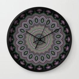 Gray mandala 4 Wall Clock