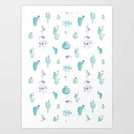 Cactus Bloom Art Print