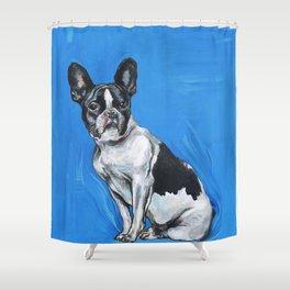 French Bulldog   - by Fanitsa Petrou Shower Curtain