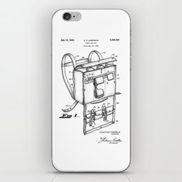 patent art Campiglia First Aid kit 1942 iPhone Skin