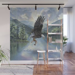 Eagle with Fish Wall Mural