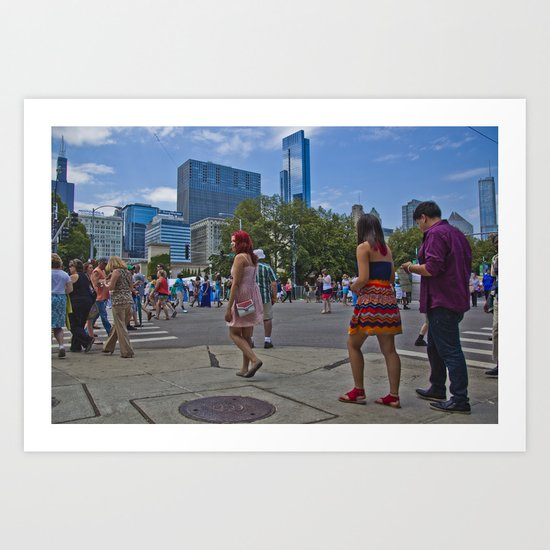 Taste of Chicago Art Print