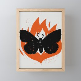 Moth to the Flame Framed Mini Art Print