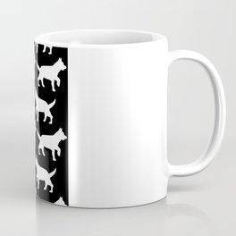 Black with white dogs pattern  Coffee Mug