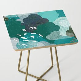 M+M Emerald Forest Bird's Eye View by Friztin Side Table