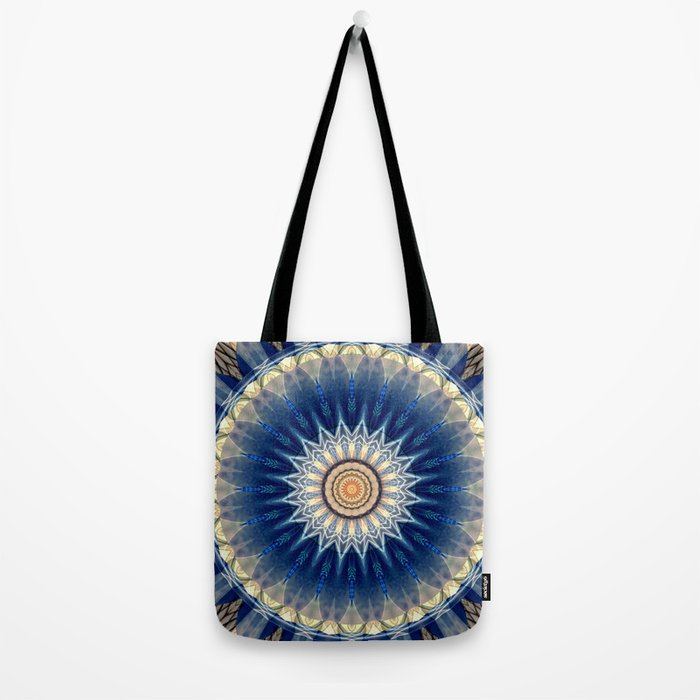 Mandala blue created by Tutti Tote Bag