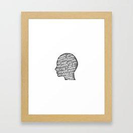Positive words in my head Framed Art Print