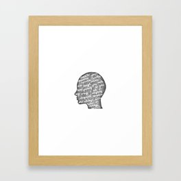 Positive words in my head Framed Art Print