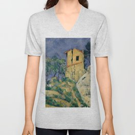 """Paul Cezanne """"The House with the Cracked Walls"""" Unisex V-Neck"""