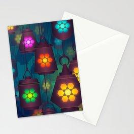 Colorful Lanterns Pattern Stationery Cards
