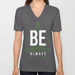 cannabis hemp ganja grass smoking pot gift Unisex V-Neck