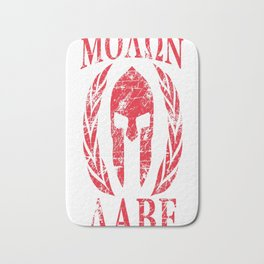 Molon Labe Spartan Trojan Helmet Laurels Bath Mat