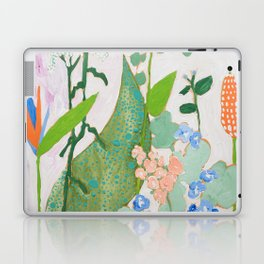 Multi Floral Painting on Pink and White Background Laptop & iPad Skin