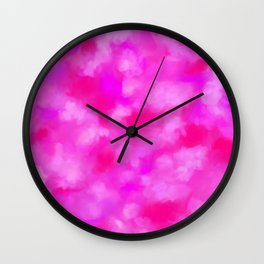 Passion Pink Valentines Abstract Wall Clock