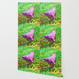 Hen on grass Wallpaper