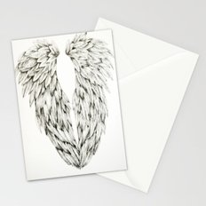 Inked Angel Wings Stationery Cards