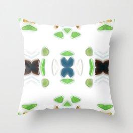 Sea Glass 6 Throw Pillow