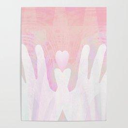 Healing Hands Pink Poster