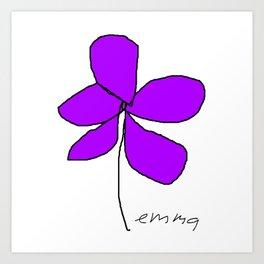 Violetra Art Print
