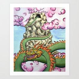 Mountain top Drak Art Print