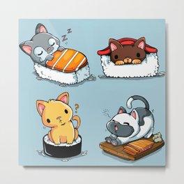 kitten sushi Metal Print
