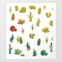 Alba's cactus Art Print