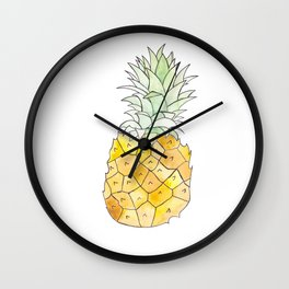 Pineapple (Painting the Hunger Away Project) Wall Clock