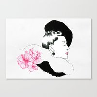 helen green Canvas Prints featuring Helen by youdesignme