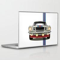 mustang Laptop & iPad Skins featuring Martini Mustang by Marius Dumitrascu