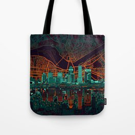 louisville skyline abstract 2 Tote Bag
