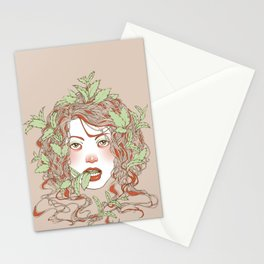 Peppermint Girl Stationery Cards