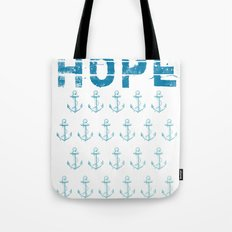 Hope Anchor Pattern Tote Bag