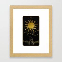 The Sun Tarot Framed Art Print