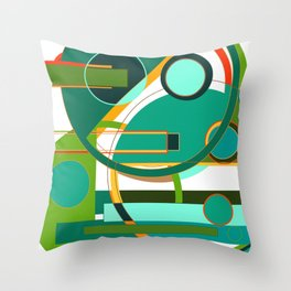 D is for Deco: Abstract Art Deco Font Typography Throw Pillow