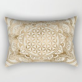 Flower of Life in Lotus - pastel golds and canvas Rectangular Pillow