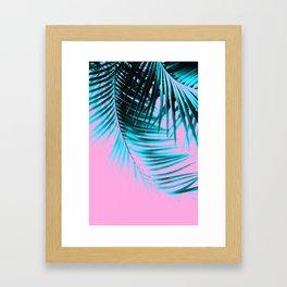 Palm Leaves Summer Vibes #3 #tropical #decor #art #society6 Framed Art Print