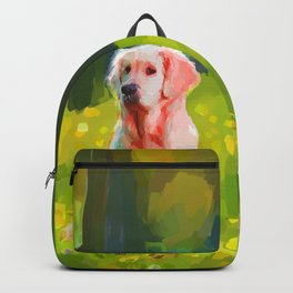Two dogs in a wood Backpack