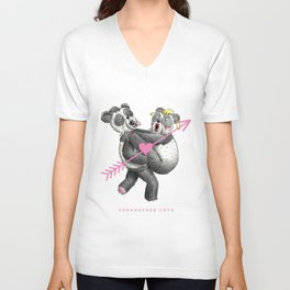 Endangered Love - Panda Sutra Unisex V-Neck