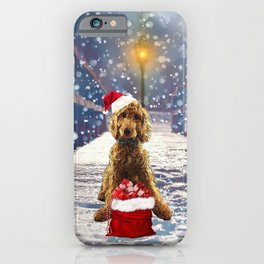 Christmas Golden Doodle iPhone Case