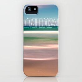 LOVE THE OCEAN II iPhone Case