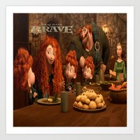 be brave Art Prints featuring Brave by store2u