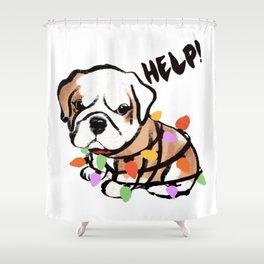 Festive puppy Shower Curtain