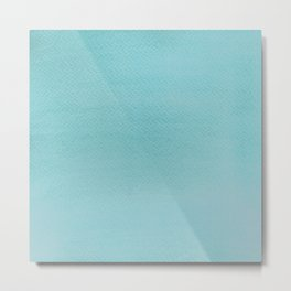 Watercolor Light cyan texture Metal Print
