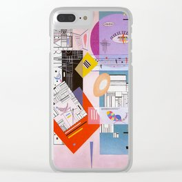 Animated Stability by Wassily Kandinsky - Vintage Painting Clear iPhone Case