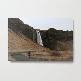 Waterfall IV / Iceland Metal Print