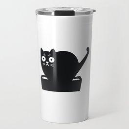 Surprised cat! Travel Mug